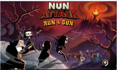 Скачать бесплатно игры для телефона, Скачать Nun Attack: Run & Gun