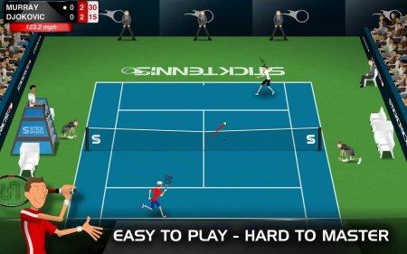 Скачать бесплатно игры для телефона, Скачать Stick Tennis