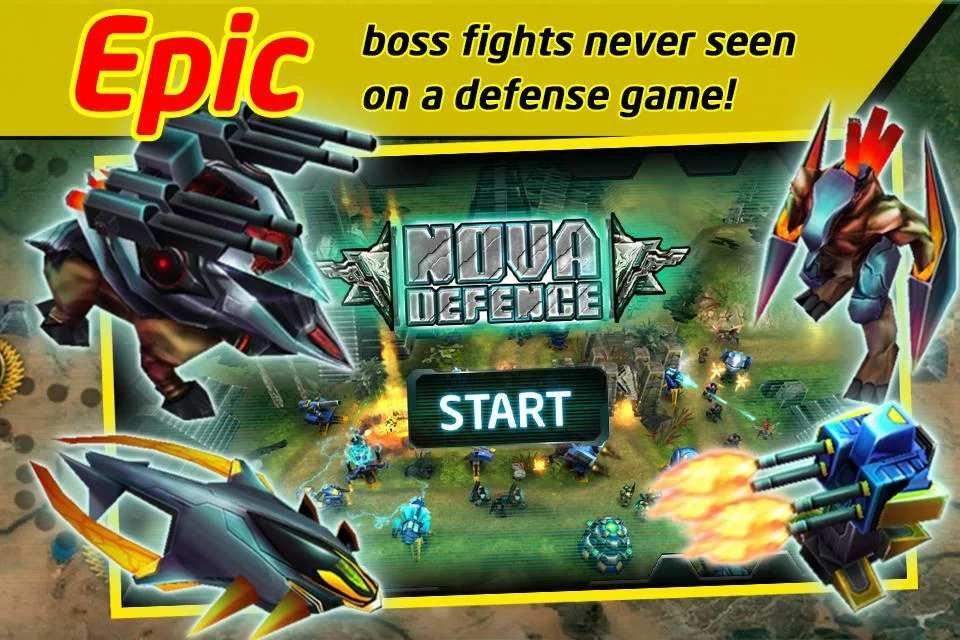 Скачать бесплатно игры для телефона, Скачать Nova Defence