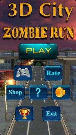 Скачать бесплатно игры для телефона, Скачать 3D City Zombie RUN