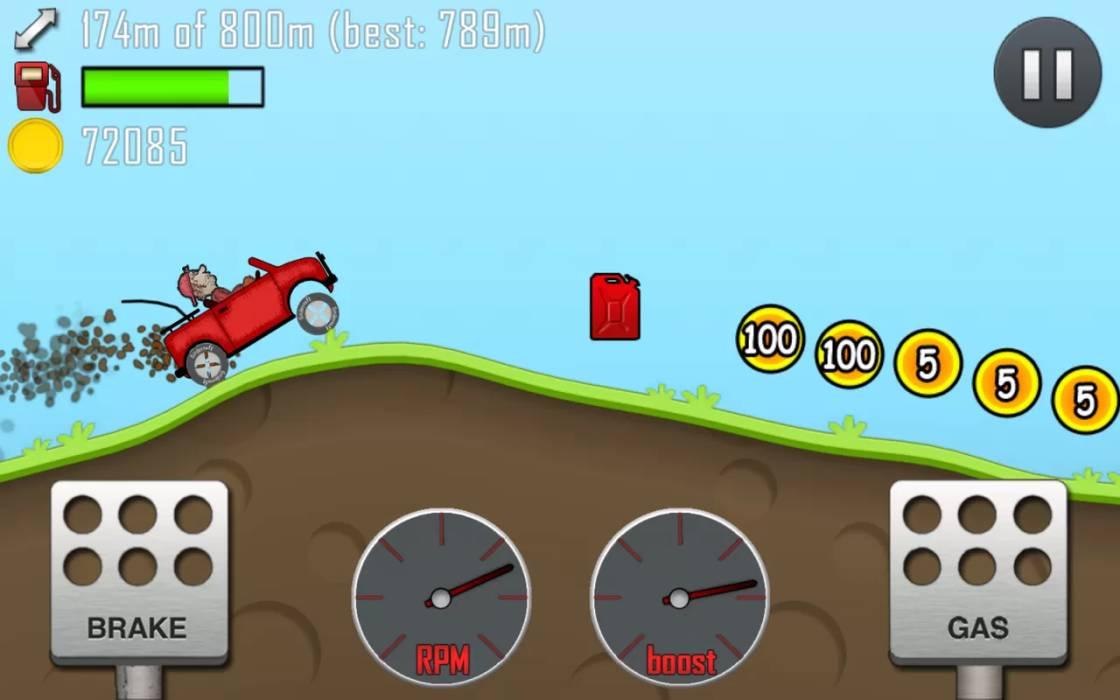 Скачать бесплатно игры для телефона, Скачать Hill Climb Racing