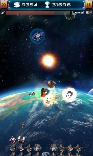 Скачать бесплатно игры для телефона, Скачать Asteroid Defense 2