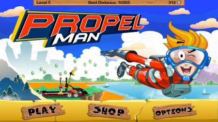 Скачать бесплатно игры для телефона, Скачать Propel Man