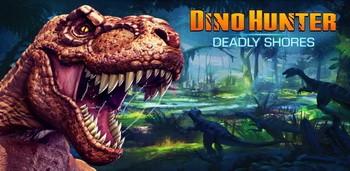 Скачать бесплатно игры для телефона, Скачать DINO HUNTER: DEADLY SHORES