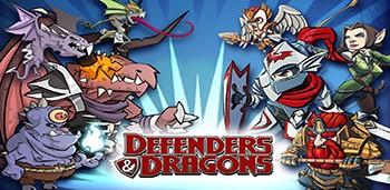 Скачать бесплатно игры для телефона, Скачать DEFENDERS & DRAGONS
