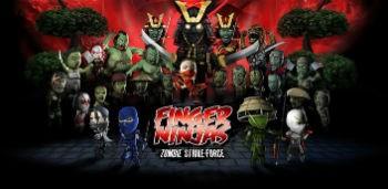 Скачать бесплатно игры для телефона, Скачать Finger Ninjas: Zombie Strike-Force